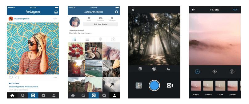 instagram photos on iphone view