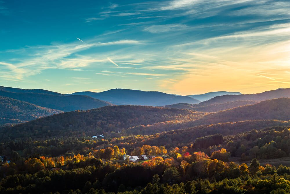 vermont mountains in autumn