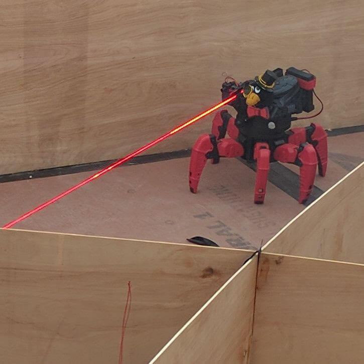 Robot firing laser