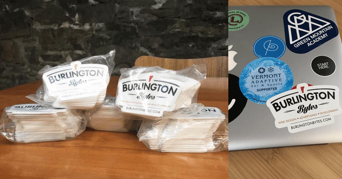 burlington bytes stickers