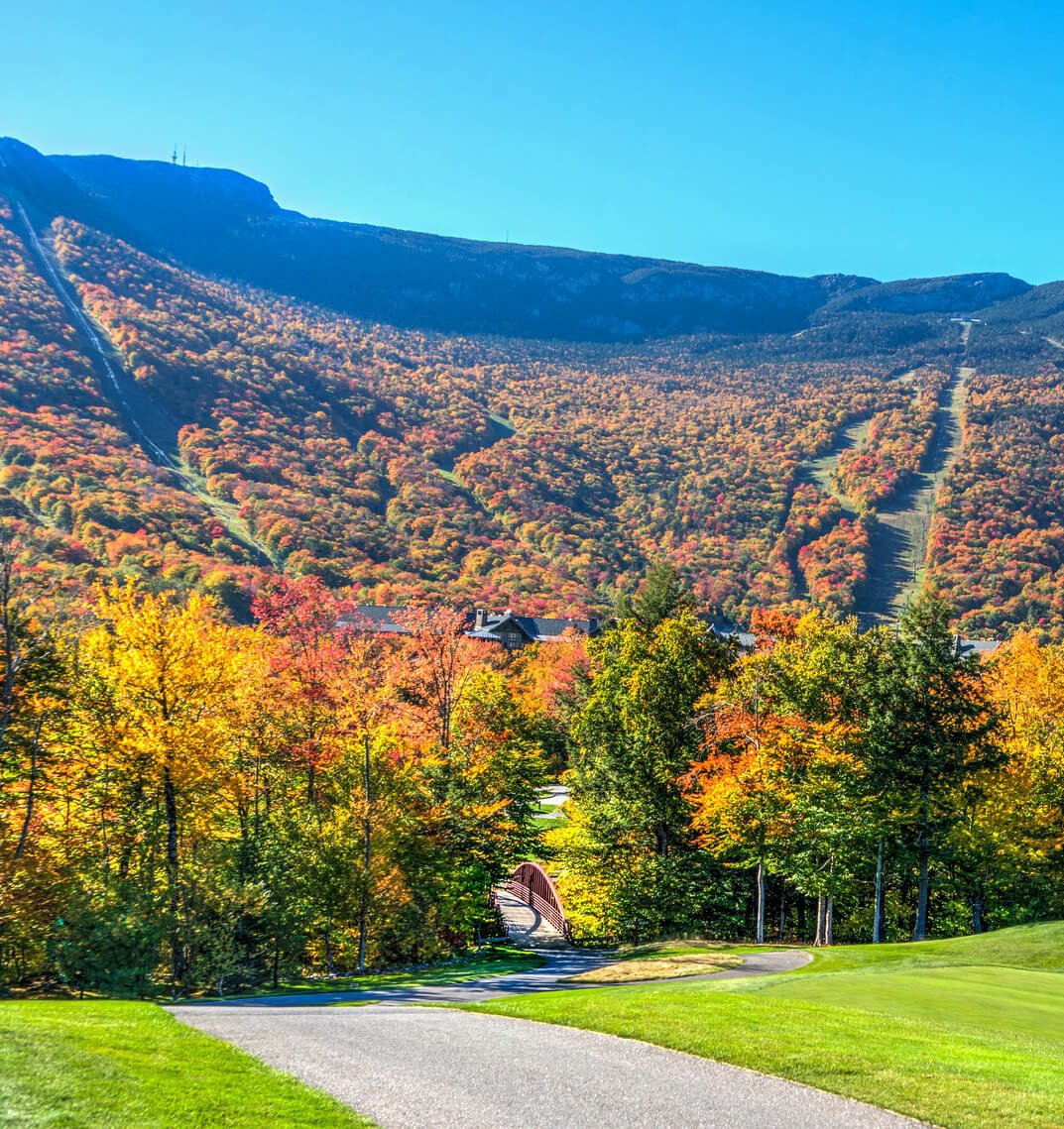 vermont mountains in autumn
