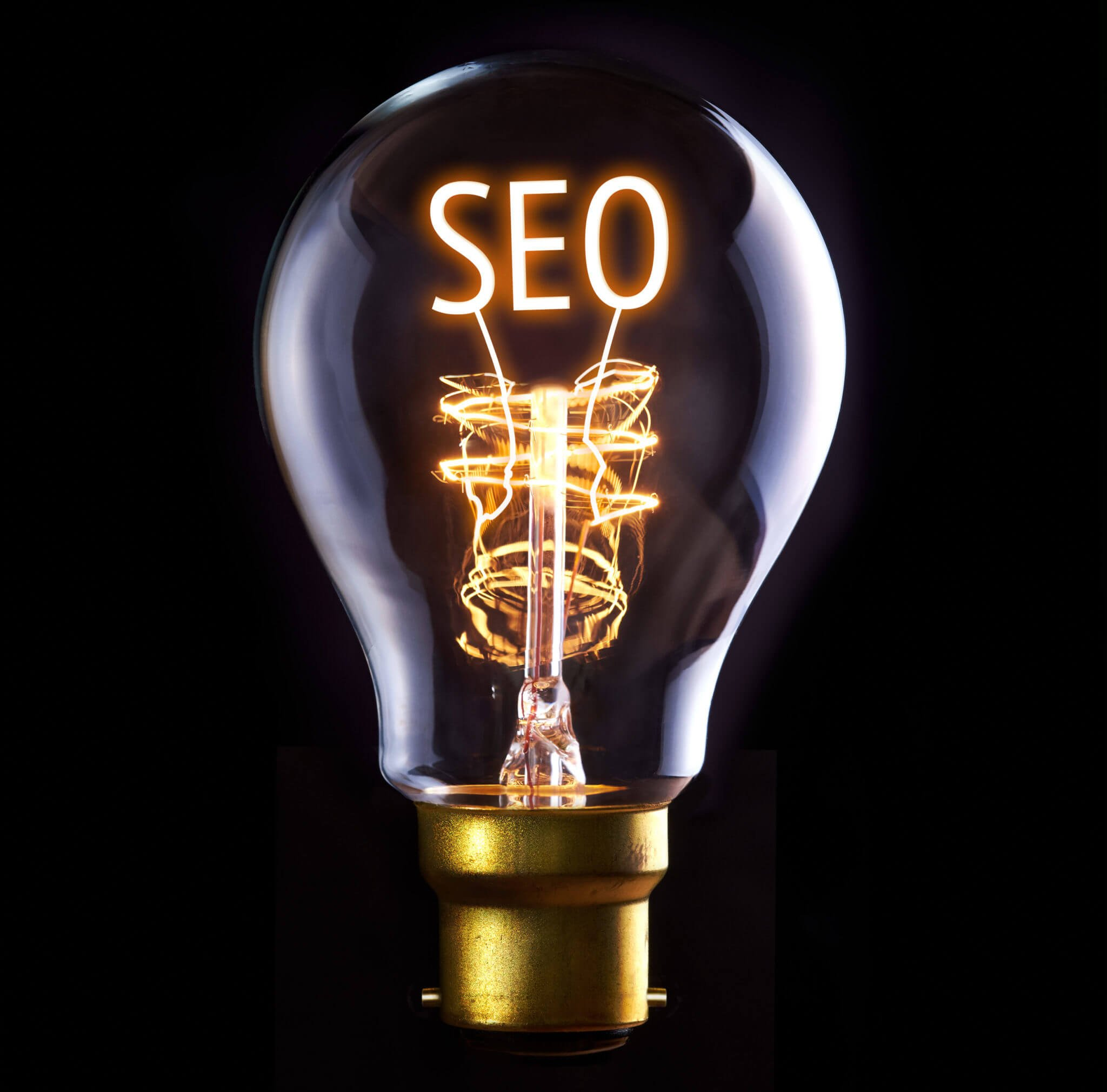 seo letters in a lightbulb
