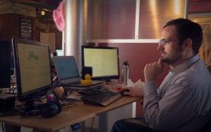 Greg hard at work.