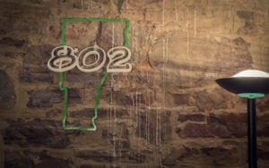 802 Sign on wall