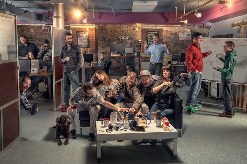 Bytes basement team photo