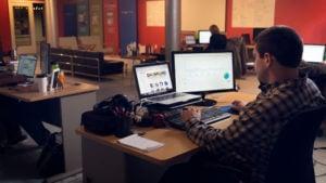 Mitch at Desk