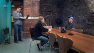 Meeting in the meeting room