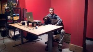 Topher at Desk