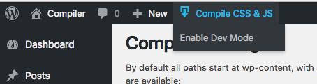 Compiler Dev Mode Disabled