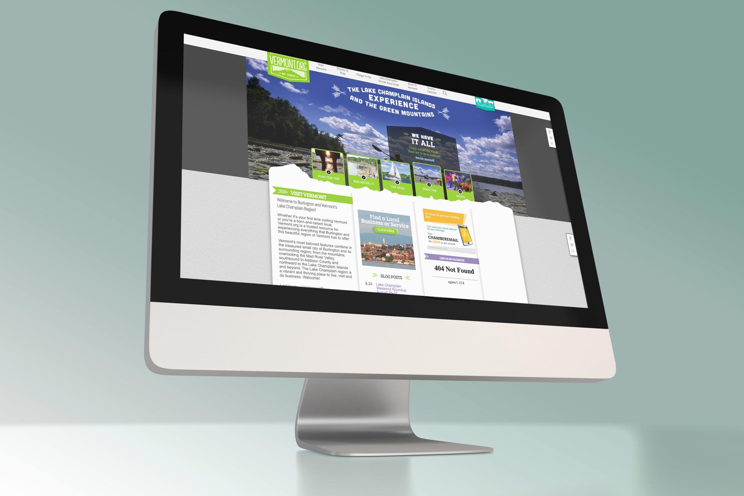 vermont.org's old website on desktop