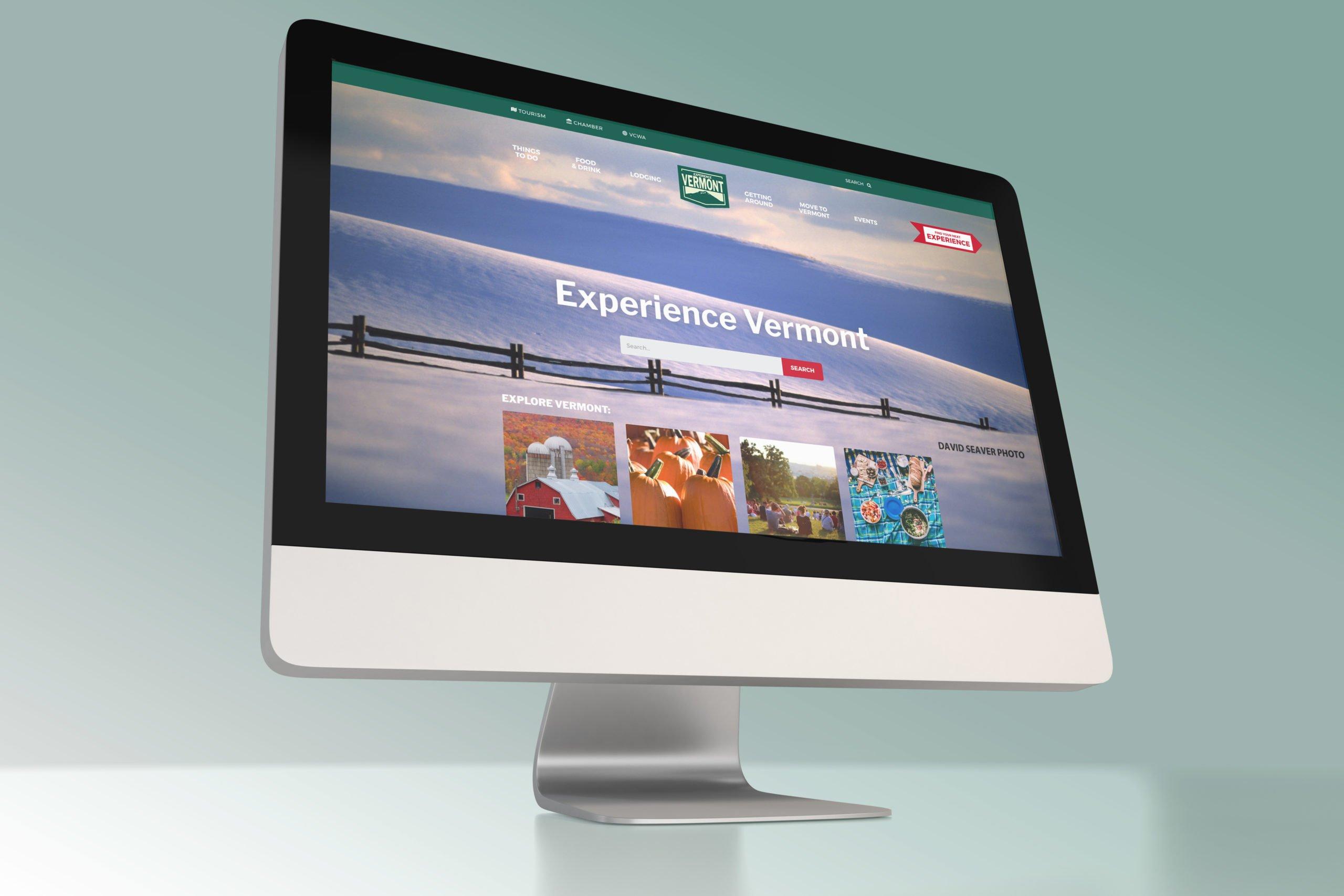 vermont.org website on desktop