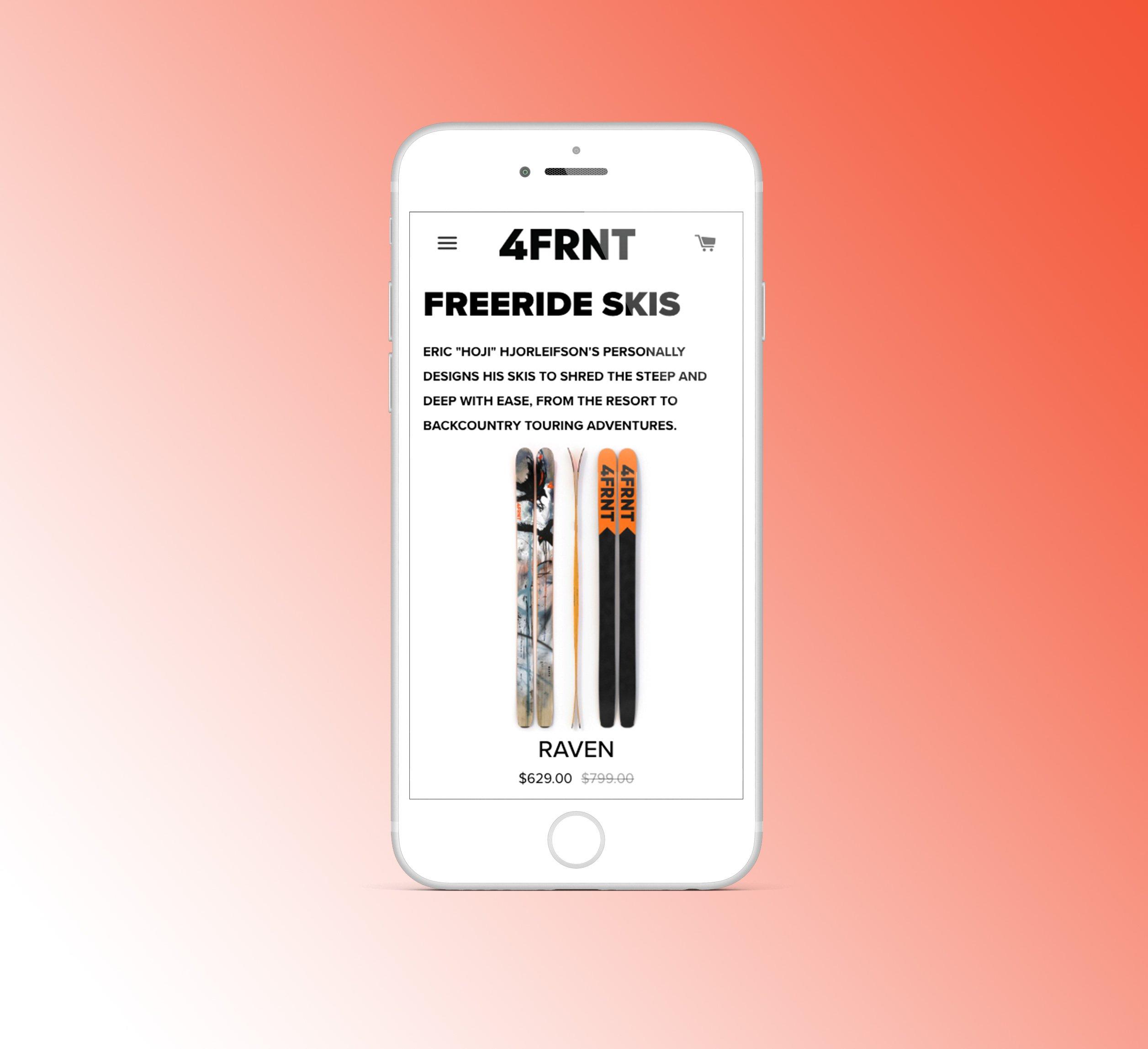 4frnt website on iphone