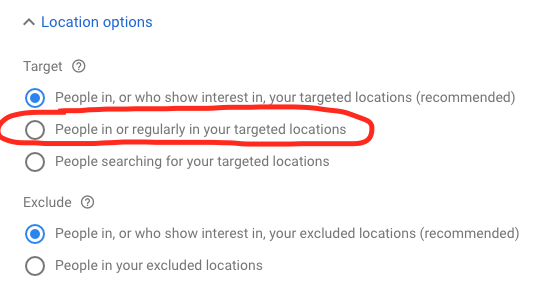 2019 Google Ads Advanced Location Targeting Options