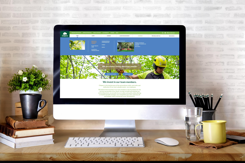 chippers website on desktop