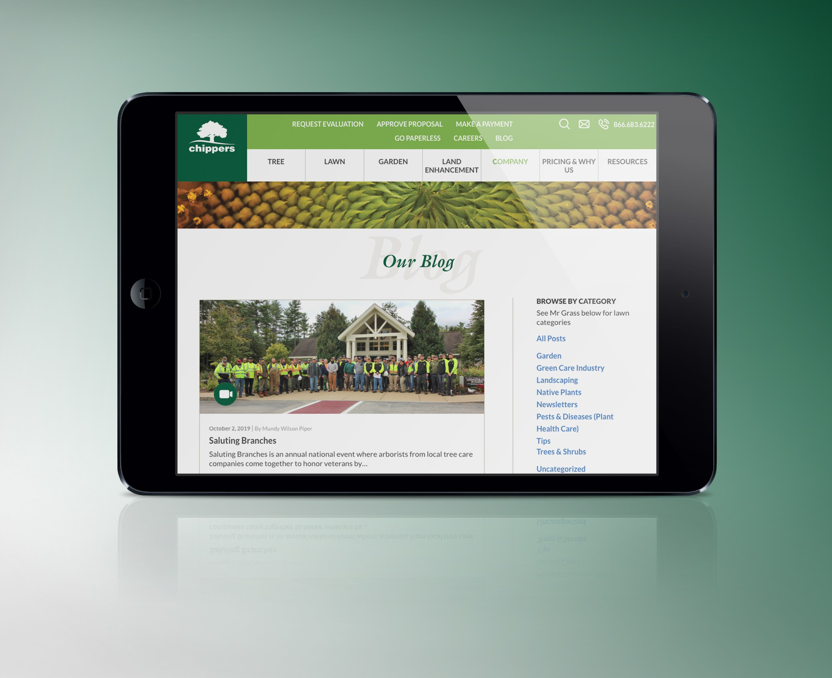 chippers website on ipad