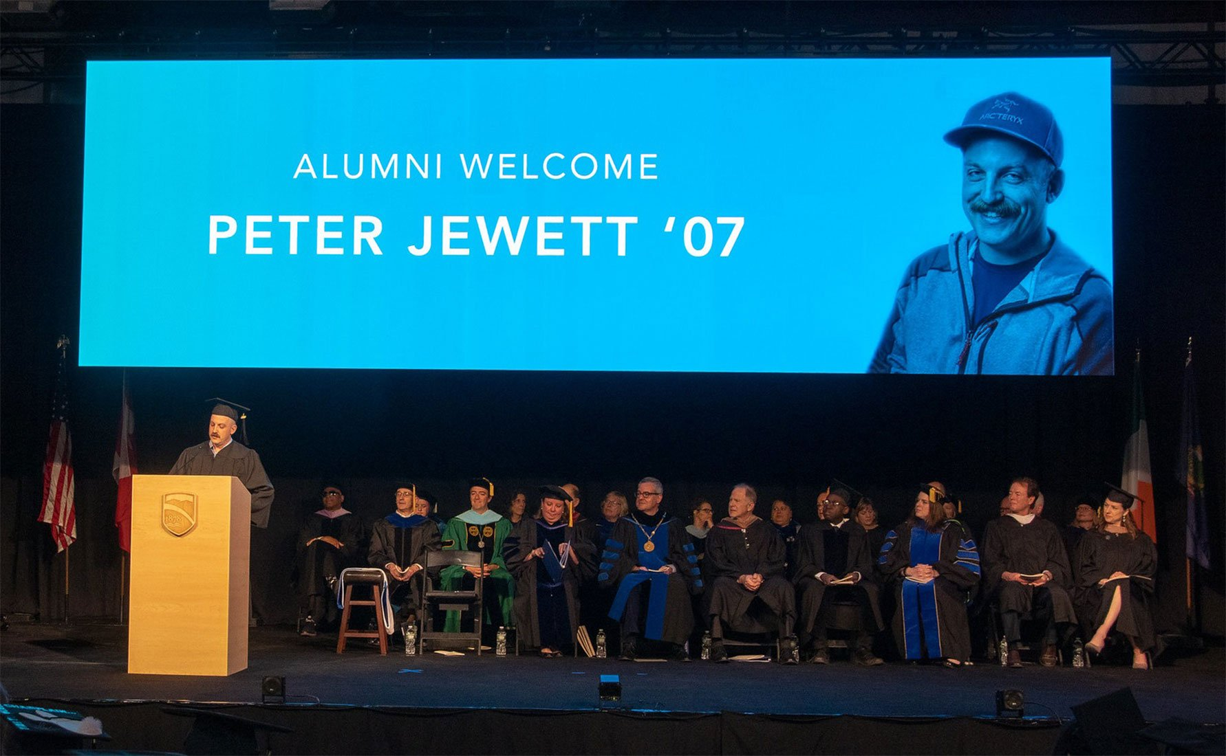 Peter Jewett Speaking at Champlain College Commencement